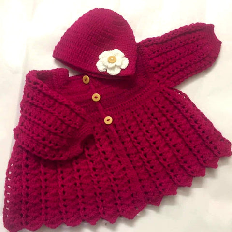 Hand Knitted Baby Flower Cap Sweater Buy Online @ Best Price in Pakistan