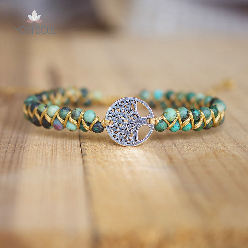 TREE OF LIFE BRACELET - GREEN