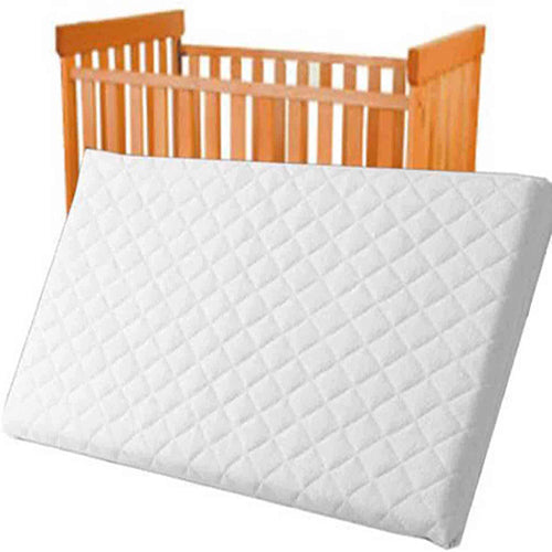 Baby Cot Bed Mattress – Quilted Breathable, Anti Allergenic, with Waterproof Cover for Toddlers