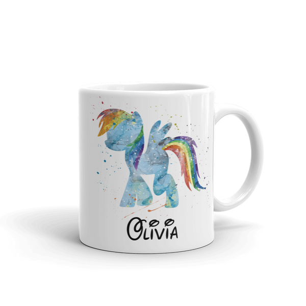 Kids Watercolour Pony 2 Mug (Unbreakable)