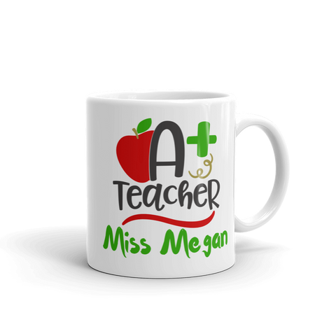 Personalised A+ Teacher Ceramic Mug