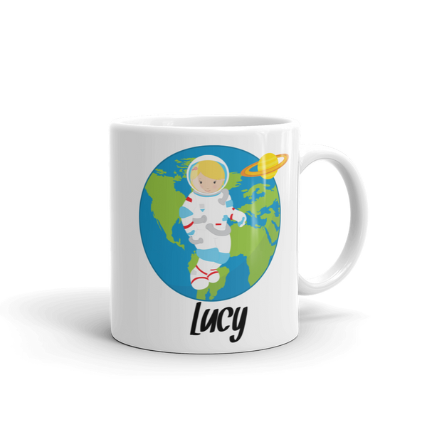 Kids Astronaut Girl Mug (Unbreakable)