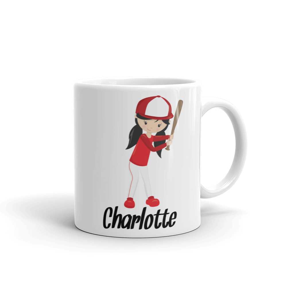 Kids Baseball Girl Mug (Unbreakable)