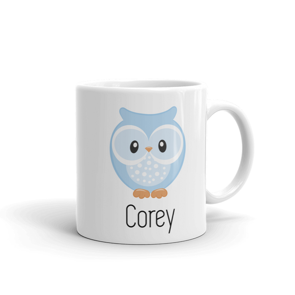 Kids Owl Mug Blue (Unbreakable)