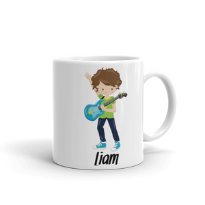 Kids Boy Band Guitar Design 2 Mug (Unbreakable)