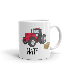 Kids Red Tractor Mug (Unbreakable)