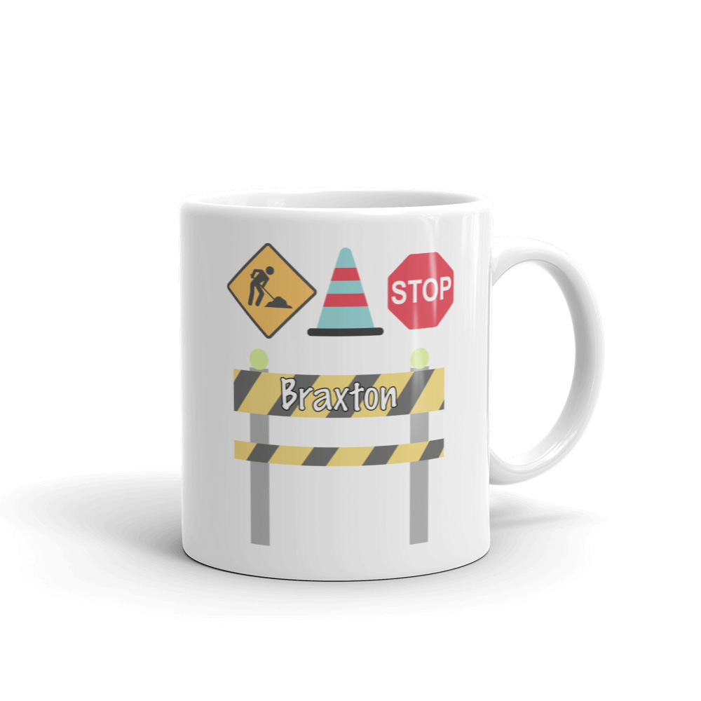 Kids Construction Mug (Unbreakable)