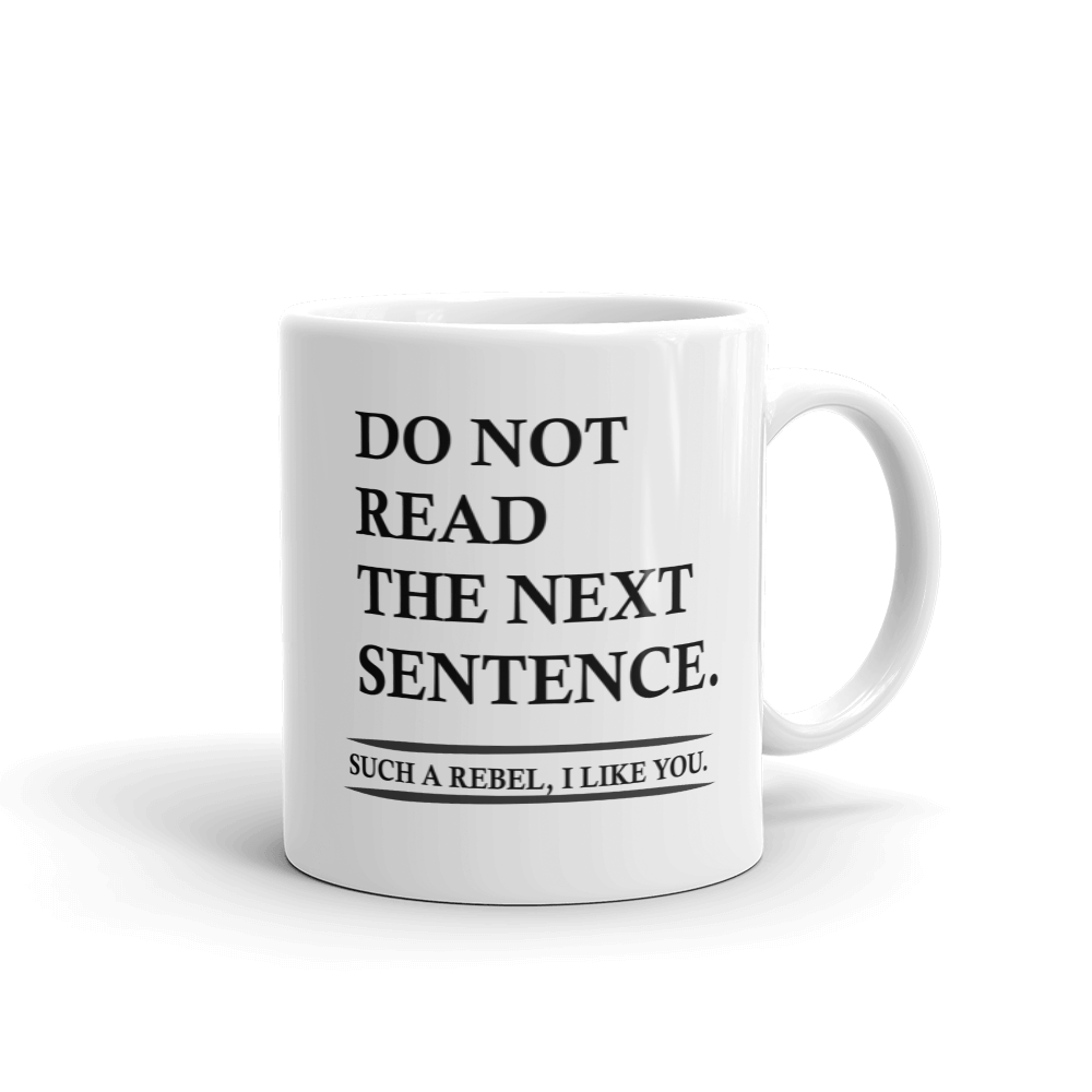 Do Not Read Ceramic Mug