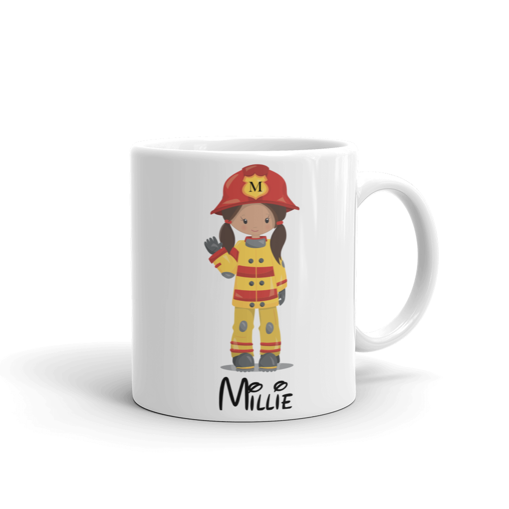 Kids Fire Fighter Girl Mug (Unbreakable)