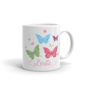 Floral Butterfly Ceramic Mug