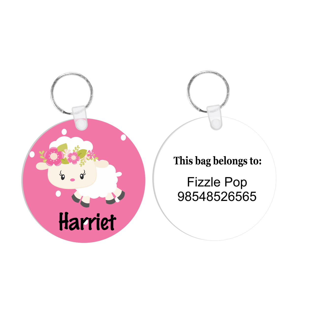 Floral Lamb Bag Tag