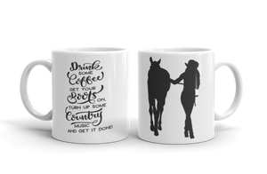 Get Your Boots On Ceramic Mug
