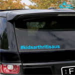 #kidsarthritisaus Car Sticker