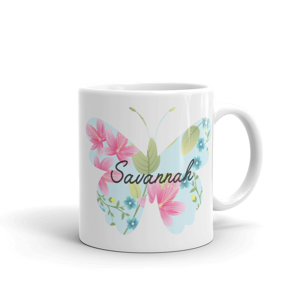 Kids Lilli Pattern Butterfly Mug (Unbreakable)