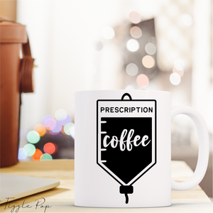 Prescription Coffee Ceramic Mug