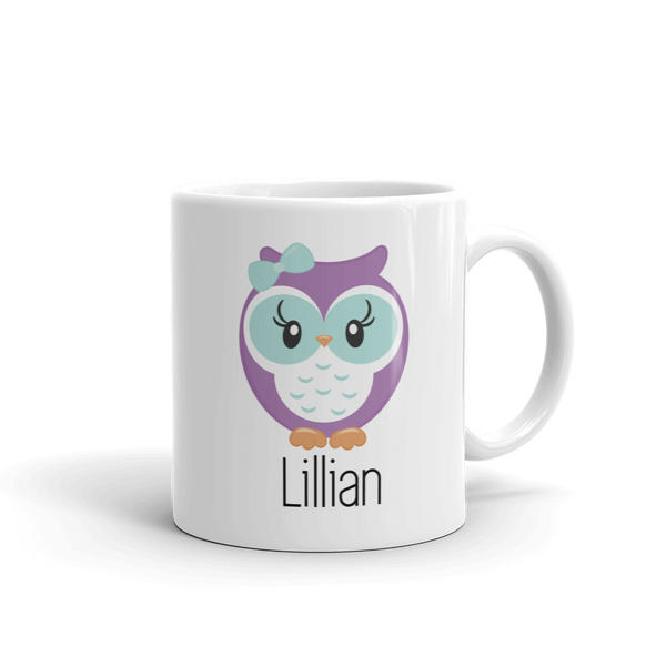 Kids Owl Mug Purple & Mint (Unbreakable)