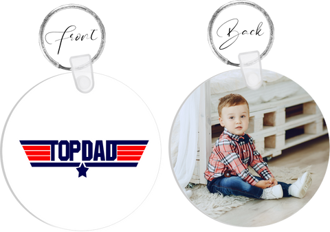 Top Dad Photo Keyring