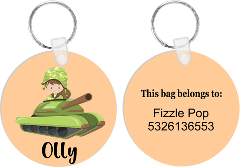 Army Tanker Bag Tag