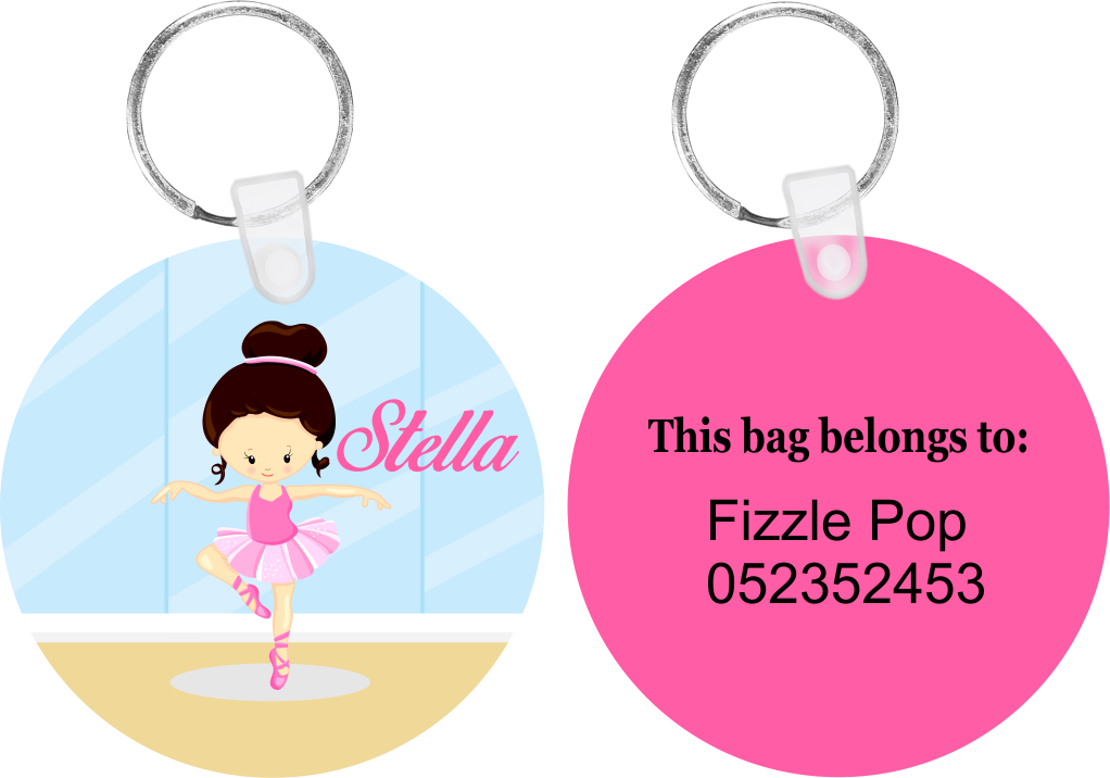 Ballerina Design #2 Bag Tag