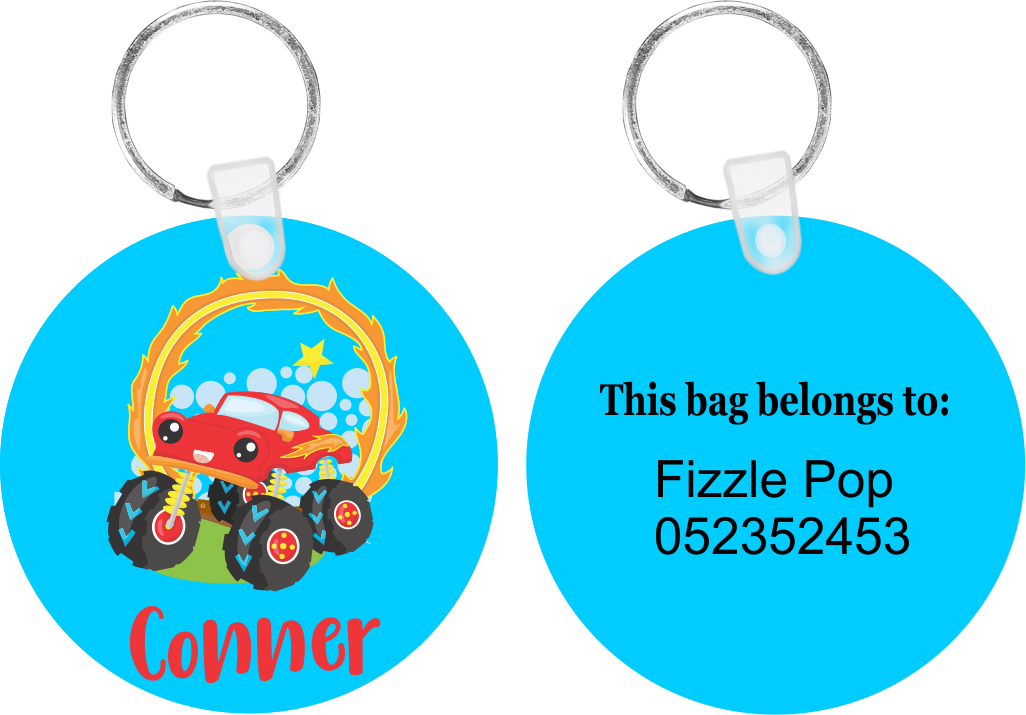 Monster Truck #2 Bag Tag