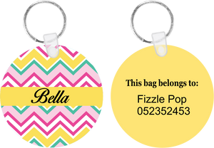 Rainbow Chevron Bag Tag
