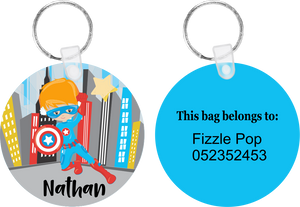 Super Hero #1 Bag Tag