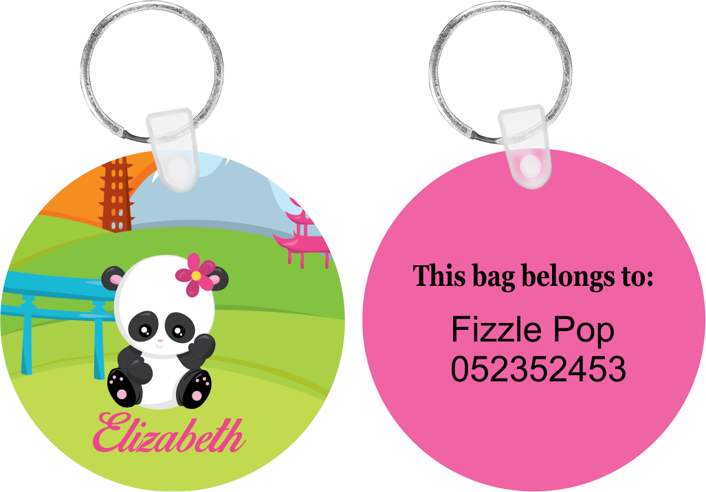 Waving Panda Bag Tag