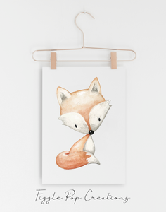 Woodland Fox Wall Print