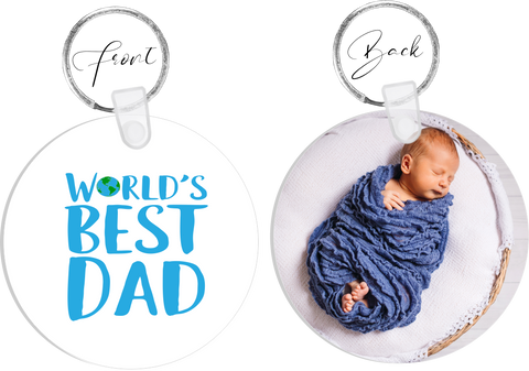 Worlds Best Dad Photo Keyring