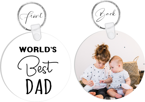 Worlds Best Daddy Photo Keyring