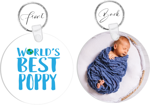 Worlds BEST Poppy Photo Keyring