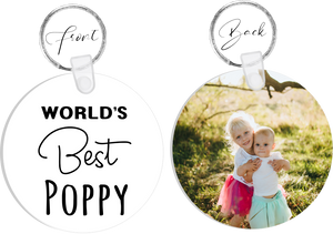 BEST Poppy Photo Keyring