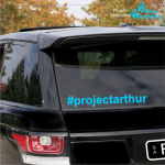 #projectarthur Car Sticker