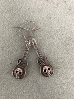 Skull Guitar Earrings