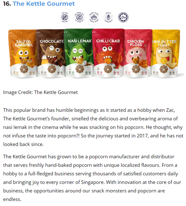 Best in Singapore featuring The Kettle Gourmet