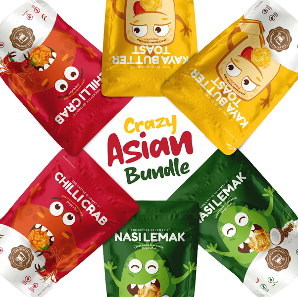 The Kettle Gourmet's Crazy Asian Bundle featuring local flavours in the form of halal popcorn