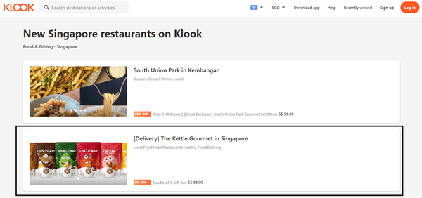 The Kettle Gourmet has newly launched on Klook