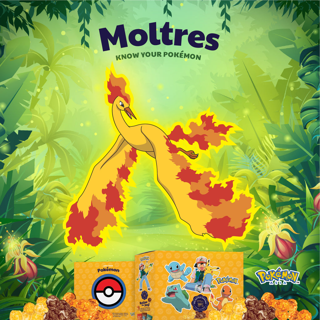 The Kettle Gourmet Pokémon Cut-out featuring Moltress