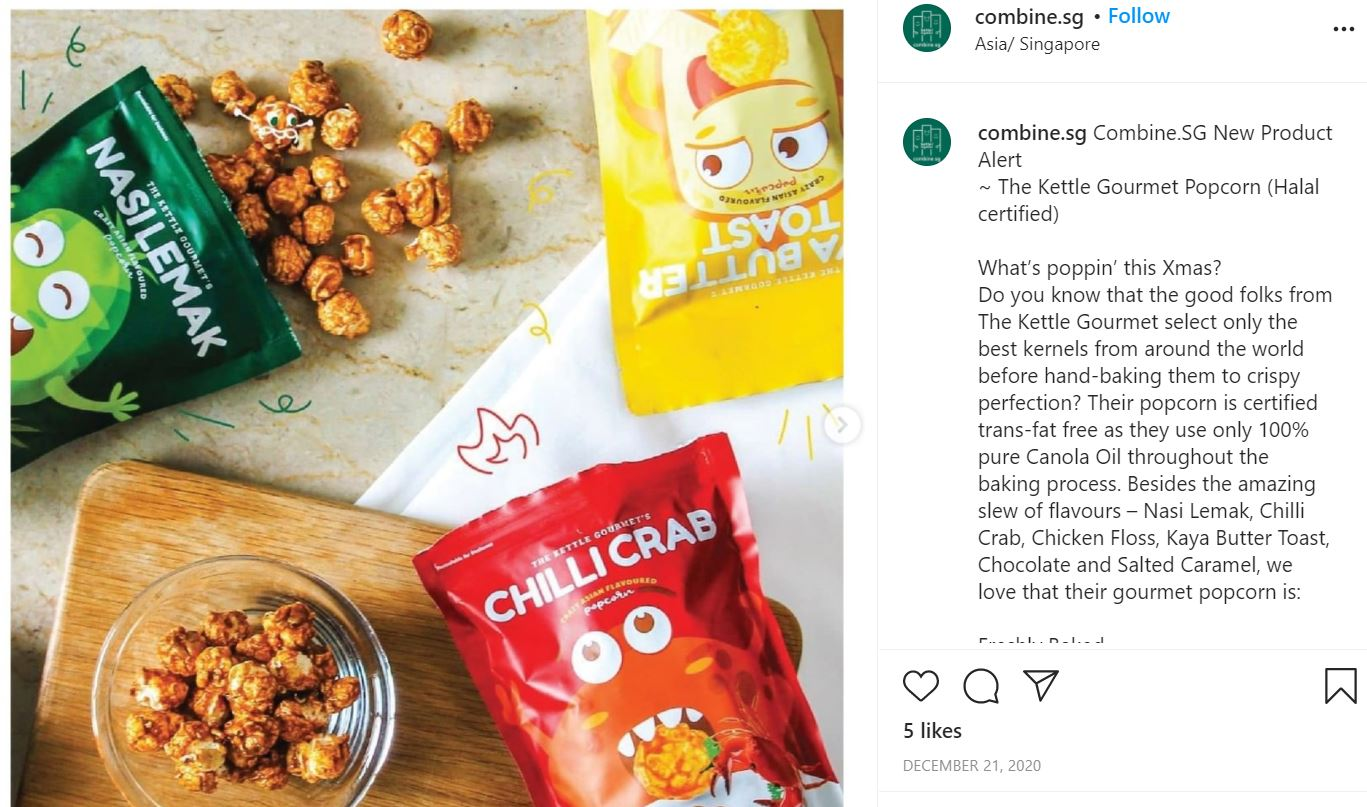 Screengrab of the Instagram post in NUYOU's article featuring The Kettle Gourmet's Crazy Asian Flavours