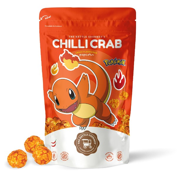 The Kettle Gourmet's Chili Crab Pokemon Snack Monster featuring Charmander