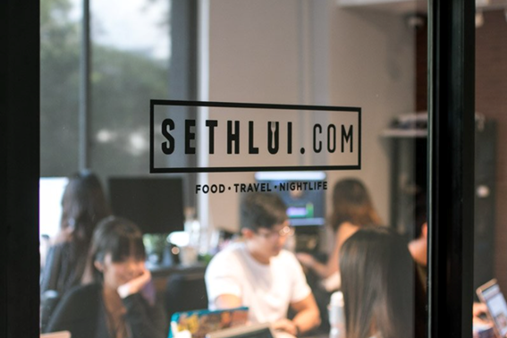 Close up of the SethLui Office