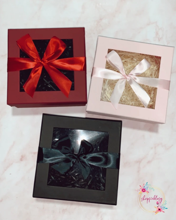Gift box for the personalized gifts you get at shopficklesg