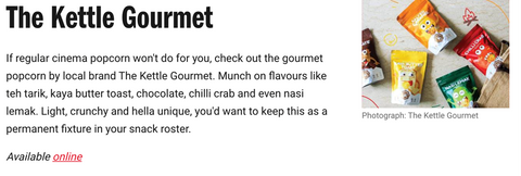 Timeout The Kettle Gourmet local snacks to try