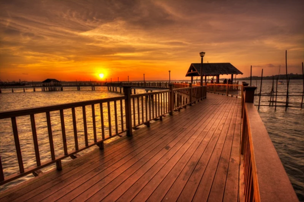 Picture of the Sunset in Changi Village by Tripzilla