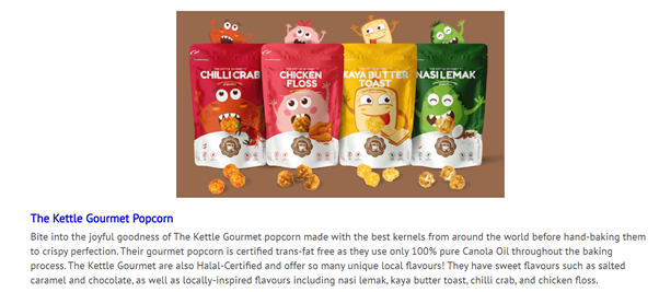 Vanilla Luxury's feature of The Kettle Gourmet in their article featuring uniquely local brands