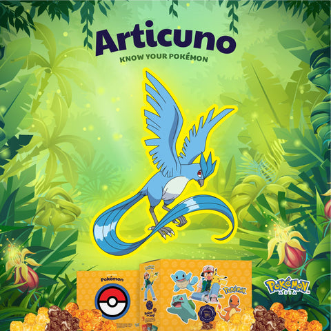 The Kettle Gourmet Pokémon gift box contains 5 different collectable cut-outs up for grabs, such as Articuno.