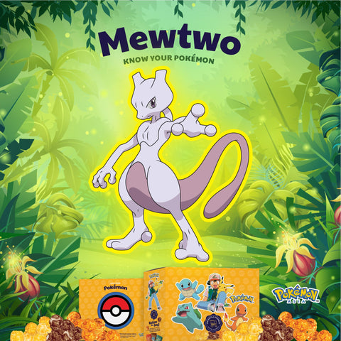 The Kettle Gourmet Pokémon gift box contains 5 different collectable cut-outs up for grabs, such as Mewtwo.