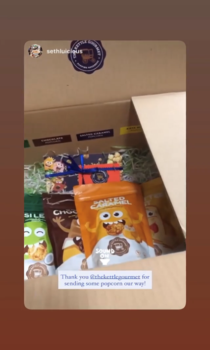 An Instagram story feature by the blog Seth Lui featuring the Assorted singles bundle they received