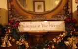 Personalised Mirrored Christmas Sign
