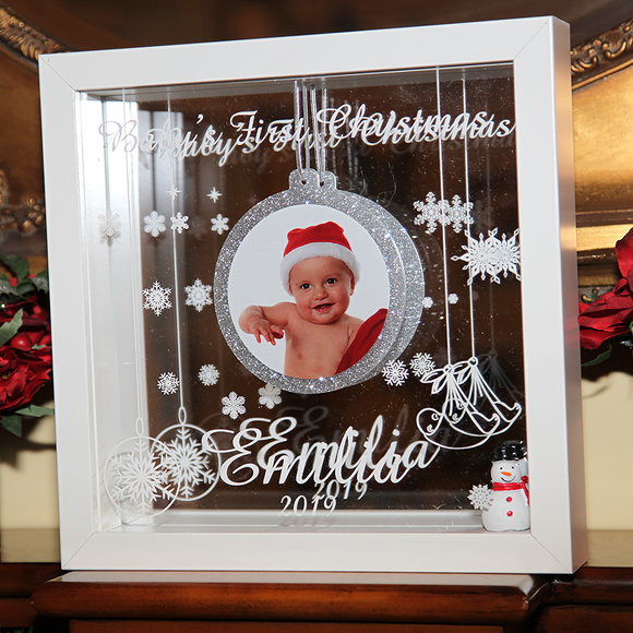 Picture Frame – Baby's First Christmas - White Background 👶